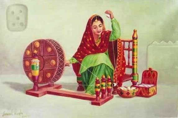 woman with charka